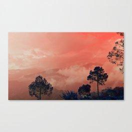 Himalayas Under a Pink Sky Canvas Print