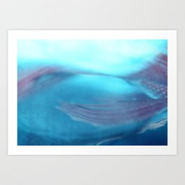 Under the sea~ aqua/salmon Art Print