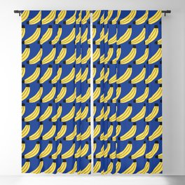 Mid Century Bananas Pattern Blackout Curtain