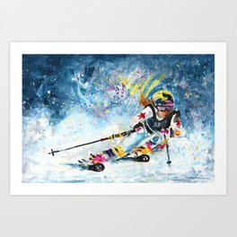 Skiing 03 Art Print