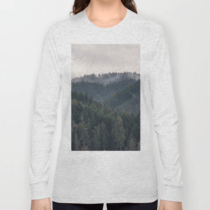 Pacific Northwest Forest - Nature Photography Long Sleeve T-shirt