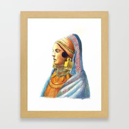 Iberian lady Framed Art Print