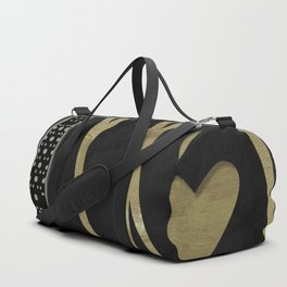 I Love Paris Black Duffle Bag