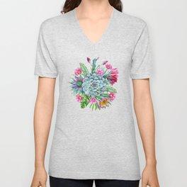 Exotic flower garden II Unisex V-Neck