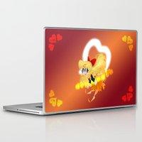 sailor venus Laptop & iPad Skins featuring Sailor Venus by Eileen Marie Art