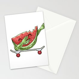 Skateboarding Watermelon on Skateboard Gift for Skater  Stationery Cards