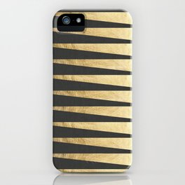 Gray and gold composition VII iPhone Case
