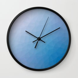 Blue flakes. Copos azules. Flocons bleus. Blaue flocken. Голубые хлопья. Wall Clock