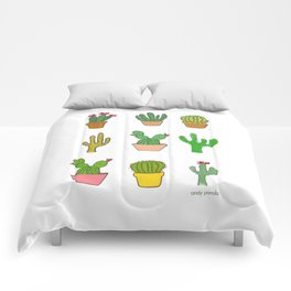 Colorful cactus Comforters