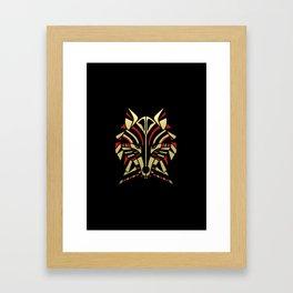 Coyote Trickster Tribal Art Totem Framed Art Print