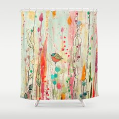 this strange feeling of liberty Shower Curtain