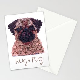 PUG- Hand-Rolled Paper Art Stationery Cards