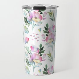 Flower pattern: watercolor Travel Mug