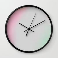 gradient Wall Clocks featuring Gradient by Lolita Stein