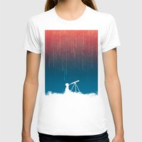 outdoor T-shirts featuring Meteor Rain (light version) by Picomodi
