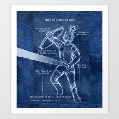 Full Armor of God - Warrior 4 Art Print