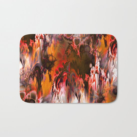 Marshmellow Skies (warm earth tones) Bath Mat