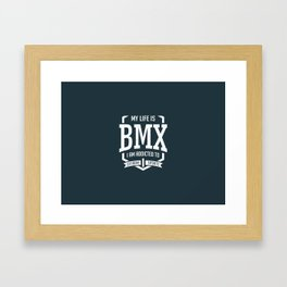 BMX Racing Framed Art Print