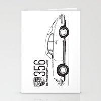 porsche Stationery Cards featuring porsche 356 by kartalpaf