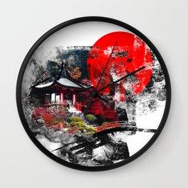 Abstract Kyoto Wall Clock