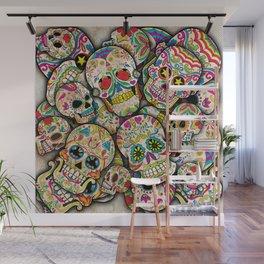 Sugar Skull Collage Wall Mural