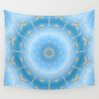 fairy tale Wall Tapestries featuring Fairy tale in Blue by Lena Photo Art