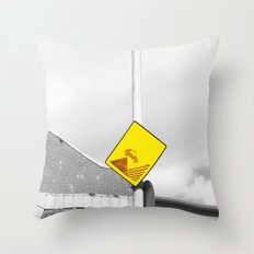 CAR IN THE SEA  Throw Pillow