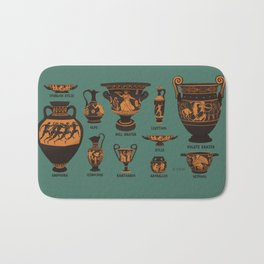 Greek Pottery Bath Mat