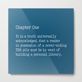 Chapter One - Blue Metal Print