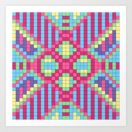 Checkerboard Squares Abstract Art Print