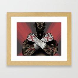 CM Punk Framed Art Print