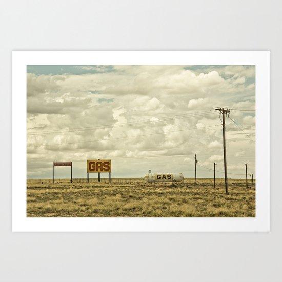 Gas Art Print