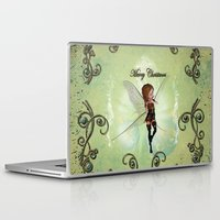 elf Laptop & iPad Skins featuring Christmas elf by nicky2342