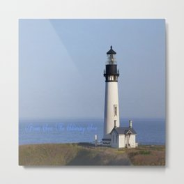 Lighthouse Newport Oregon Metal Print
