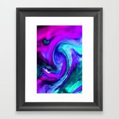 turquiose and purple abstract Framed Art Print