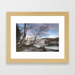 Ladybower sunset Framed Art Print