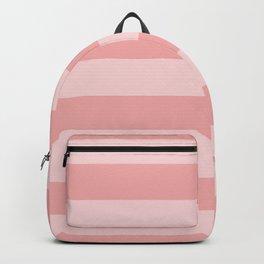 Large Blush Pink Glossy Cabana Tent Stripes Backpack