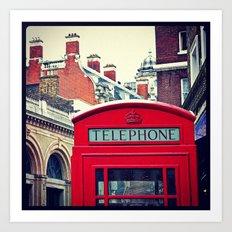 'LONDON PHONE BOX' Art Print