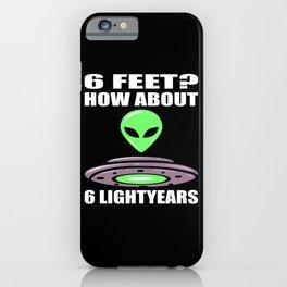 Alien UFO Extraterrestrial Motif iPhone Case