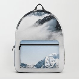 Mountain Tops Above Clouds And Snow Backpack