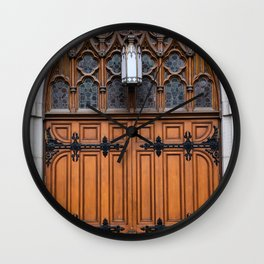 church doors Wall Clock