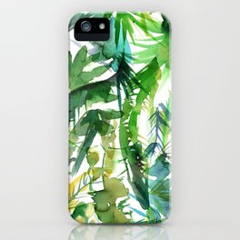 VIBE of the Jungle  {A-green} iPhone Case
