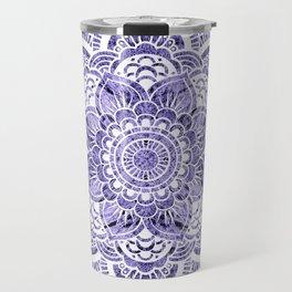 Mandala Lavender Colorburst Travel Mug