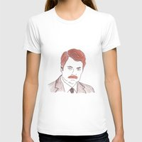 ron swanson T-shirts featuring Ron Swanson  by nicoleskine