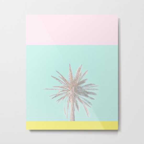 Pastel Candy Palm Metal Print