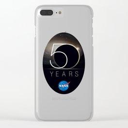 NASA's 50th Anniversary Logo Clear iPhone Case