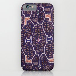 Song to Bring Wealth & Prosperity - Traditional Shipibo Art - Indigenous Ayahuasca Patterns iPhone Case