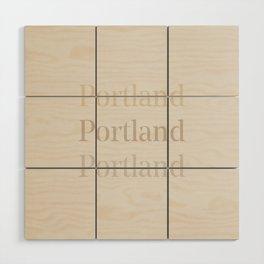 Portland Wood Wall Art