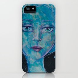 """""""Space nymph"""" an original mixed media painting by katrina Koltes iPhone Case"""