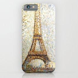 Georges Seurat Eiffel Tower Pointillism iPhone Case